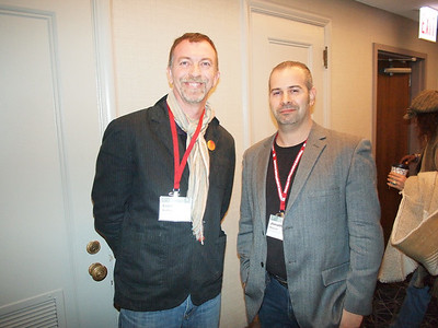 Outgoing SVA president, Liam Buckley and incoming SVA president, Jonathan S. Marion.