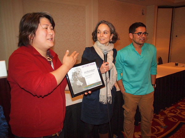 Joana Roque del Pinho receives the Jean Rouch award for collaborative film-making